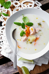Finnish salmon soup