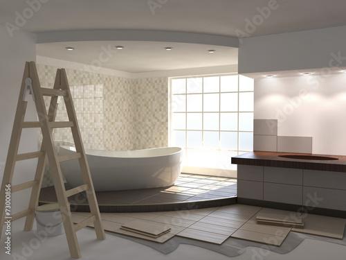 obraz PCV Remont łazienki