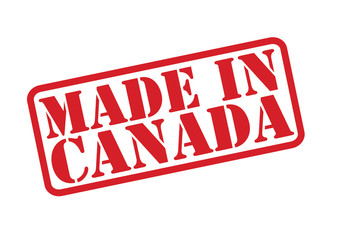MADE IN CANADA Rubber Stamp vector over a white background.