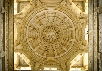 Ranakpur Jain Temple dome ceiling