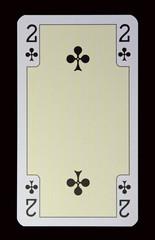Spielkarten der Ladys - Kreuz Zwei