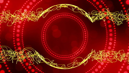 red background and yellow frame, abstract, loop