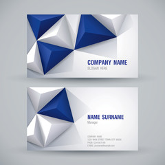 Business card design, abstract background.