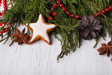 Christmas decorations close-up