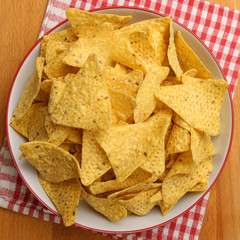 Bowl of Nacho Chips