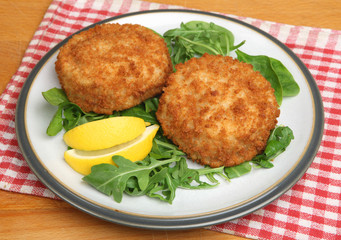 Cod Fishcakes with Salad