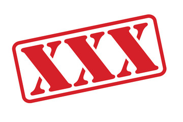 XXX Rubber Stamp vector over a white background.