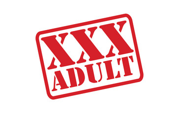 XXX ADULT Rubber Stamp vector over a white background.