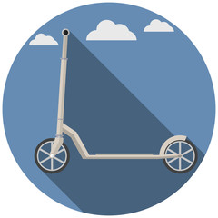 Flat icon for Kick Scooter
