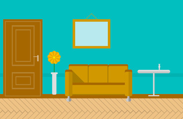 Flat illustration for sitting-room
