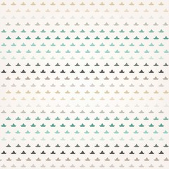 Colorful Sailboat Pattern On Old Paper