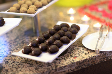 Chocolate ball cakes