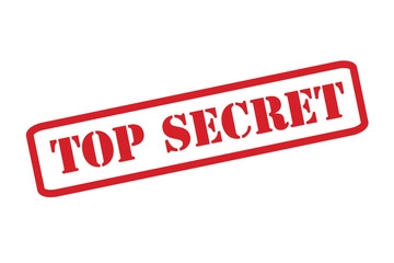 'TOP SECRET' Red Stamp vector over a white background.