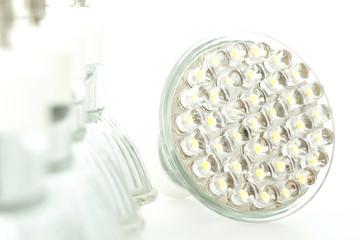 Eco LED light bulb isolated on white background
