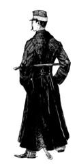 Militaria : Standing Man (cavalry) - 19th century