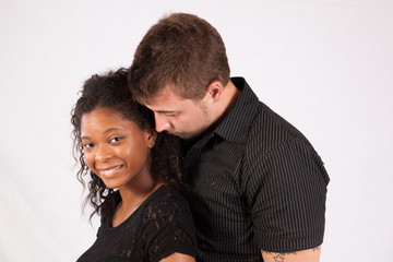 Black woman and white man, interracial couple