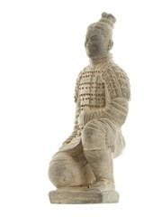Terracotta warrior isolated on white background