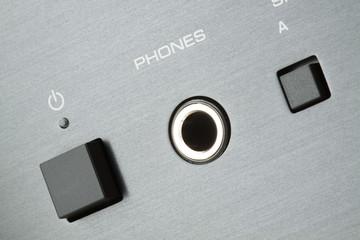Detail of headphones connector