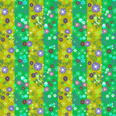 Flowers retro abstract seamless pattern texture striped backgrou