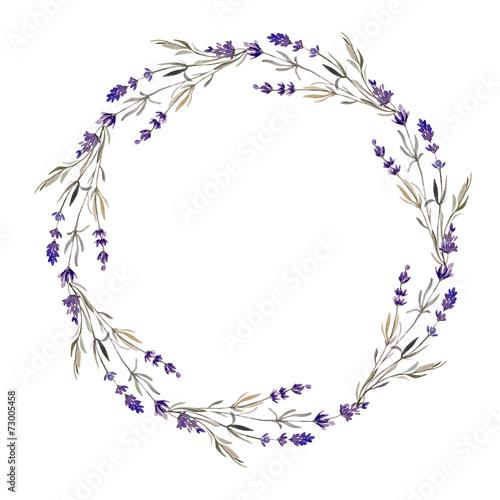 Zdjęcia na płótnie, fototapety, obrazy : lavender wreath