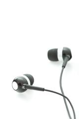 Headphones – earphones isolated on white background