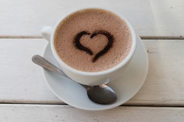 Coeur en café 3