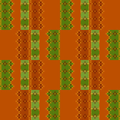 Embroidered textile ornamental seamless cross-stitch pattern bac
