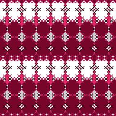 Embroidered cross-stitch textile ornamental seamless pattern tex