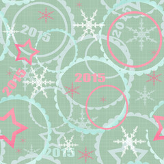 Winter 2015 seamless christmas pattern background