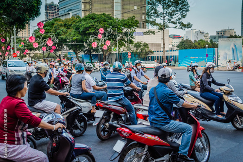 Deurstickers Overige Verkehr Saigon Vietnam