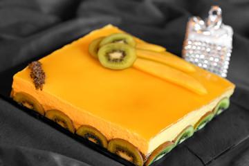 gâteau bavarois mangue chocolat