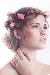 Beautiful model posing with jewellry