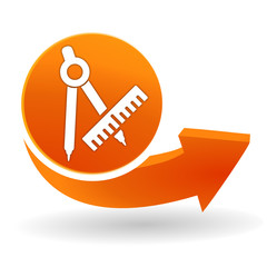 sur mesure sur bouton web orange