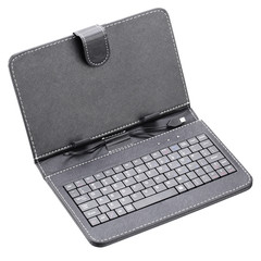 Black case with keyboard for tablet