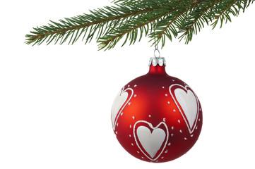 red xmas ball decoration