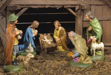 xmas crib and nativity scene