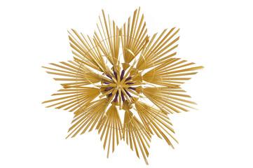 Straw star as Christmas decoration