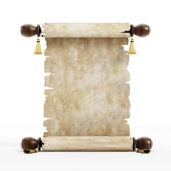 Blank Scroll Isolated on White