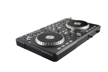 Pro dj controller isolated on white background