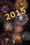 new year 2015 with firework