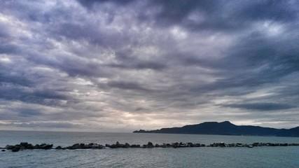 Stormy clouds over Portofino mount