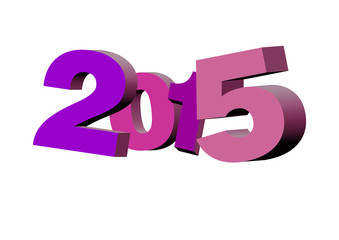 illustration for new year 2015