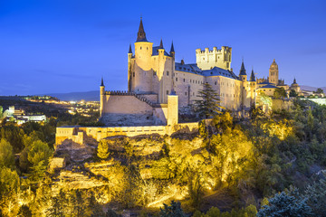 Segovia, Spain Alcazar at Night