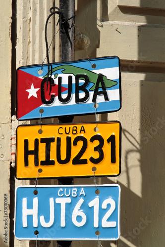 Papiers peints Caraibes Fausses plaques minéralogiques cubaines