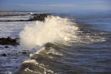 Crashing waves on the pier