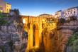 canvas print picture - Ronda, Spain at Puento Nuevo Bridge