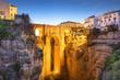 Leinwandbild Motiv Ronda, Spain at Puento Nuevo Bridge