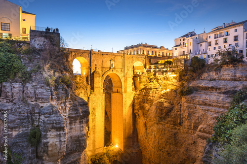 canvas print picture Ronda, Spain at Puento Nuevo Bridge