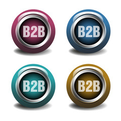 Business to business buttons