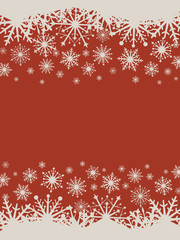 Flat design red Christmas vector background